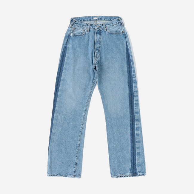[캡틴선샤인]KAPTAIN SUNSHINE_배기 컷 스트레이트 데님 팬츠  Baggy Cut Straight Denim Pants (Remake Side Seam)