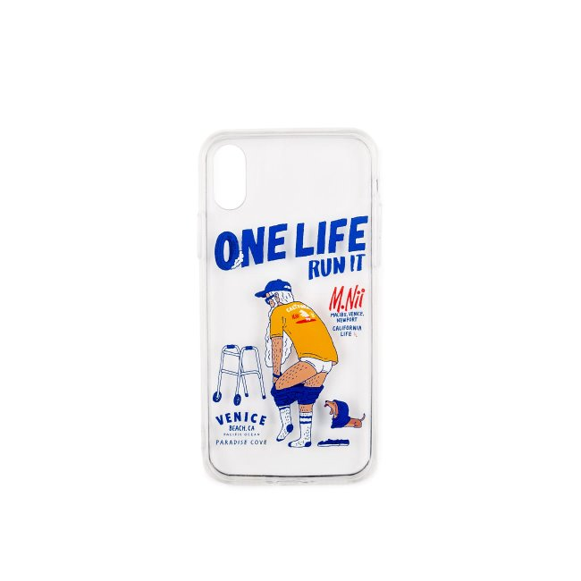 [엠니]M.Nii_M.Nii x ONELIFE NEWPORTVENICE RUN IT Case Clear_iphone X/XS