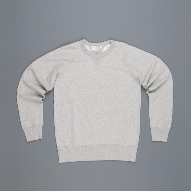 [벨바쉰]VELVA SHEEN_래글런 스웻셔츠 10OZ RAGLAN SWEATSHIRT IN HEATHER GREY