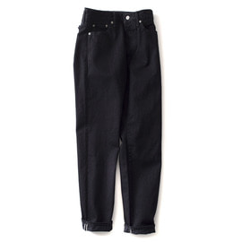 [오디너리핏츠]ORDINARY FITS_New Roll Up 5P Black Denim One Wash (Black)