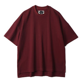 "[오파츠]OOPARTS_오버 사이즈 티셔츠 ""와인"" OPT18SSSTP07IV Over Sized T-Shirt ""Wine"""
