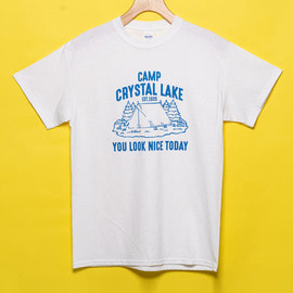 [유룩나이스투데이] YOU LOOK NICE TODAY _ 울트라 코튼 티셔츠 화이트 (Friday The 13th)ULTRA COTTON T-SHIRTS (USA FIT) WHITE