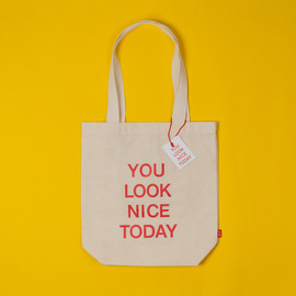 [유룩나이스투데이] YOU LOOK NICE TODAY COTTON BAG - ECRU ( RESTOCK )