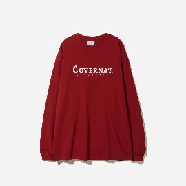 [커버낫]COVERNAT_L/S 어쎈틱 로고 티 버건디 L/S AUTHENTIC LOGO TEE BURGANDY