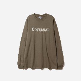 [커버낫]COVERNAT_L/S 어쎈틱 로고 티 그린 L/S AUTHENTIC LOGO TEE GREEN