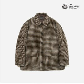 [커버낫]COVERNAT_커버낫 X TWC 하운드 투스 울 숏 코트 COVERNAT X TWC HOUND TOOTH WOOL SHORT COAT