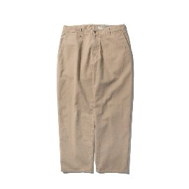 [포터리]POTTERY_WIDE DENIM PANTS COTTON HIGH DENSITY TWILL DENIM CLOTH ENZYME WASH BEIGE