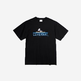 [커버낫]COVERNAT_커버낫X피너츠 70th PADDLING SNOOPY TEE BLACK