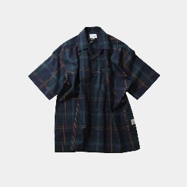 [홀리선]HORLISUN_Ophir Various Multi Check Loosefit Shirts / Navy