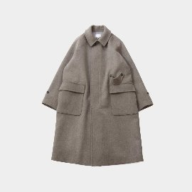 [홀리선]HORLISUN_Winterport Wool Long Coat Seasonal Melange Beige