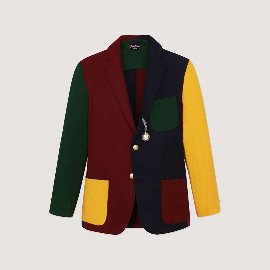 [로잉 블레이저] Rowing Blazers_COLORBLOCK FLANNEL BLAZER_3-roll-2 single breasted blazer