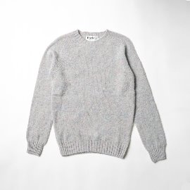 [할리오브스코틀랜드] HARLEY OF SCOTLAND_ 셰기 독 크루넥 스웨터 Shaggy Dog Crew Neck Sweater - Ugie Pearl