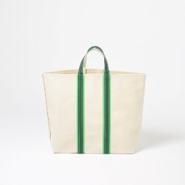 [템베아]TEMBEA_3톤 토트백_3TONE TOTE NATURAL/KELLY/GREEN