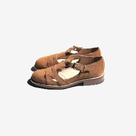[유케텐] YUKETEN_Summer Leather Sandal Golden Brown Suede