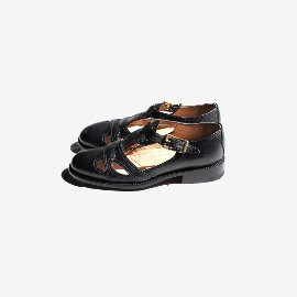 [유케텐] YUKETEN_Summer Leather Sandal Goat Black