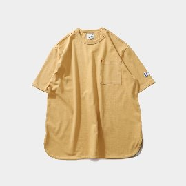 [홀리선]HORLISUN_Emery Short Sleeve Pocket Seasonal T-shirts Mustard