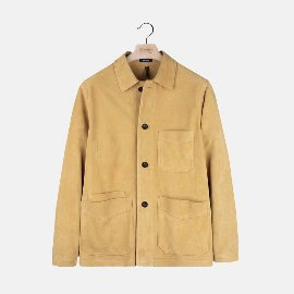 [드레익스] Drake's_Yellow Heavyweight Suede Five-Pocket Chore Jacket
