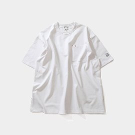 [홀리선]HORLISUN_ Lawrence Overfit Short Sleeve Pocket T-shirts Off White