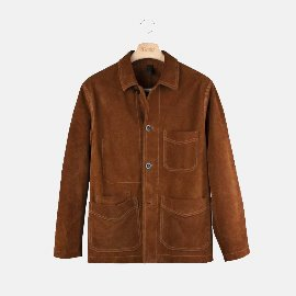 [드레익스] Drake's_Rust Heavyweight Suede Five-Pocket Chore Jacket