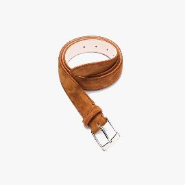 [산타 트리니타]SANTA TRINITA_CASHMERE SUEDE CALF LEATHER BELT CAMEL